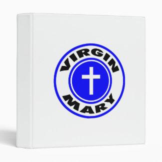 Virgin Mary 3 Ring Binders
