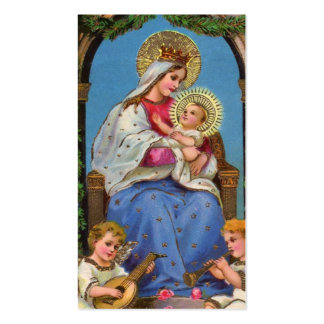 Virgin Mary and Baby Jesus Double-Sided Standard Business Cards (Pack Of 100)