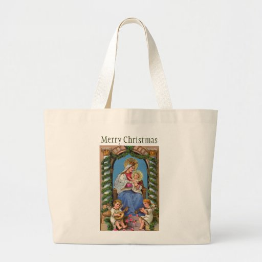 Virgin Mary and Baby Jesus Canvas Bags