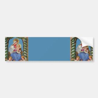 Virgin Mary and Baby Jesus Car Bumper Sticker