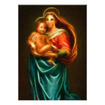 Virgin Mary And Baby Jesus Personalized Announcements