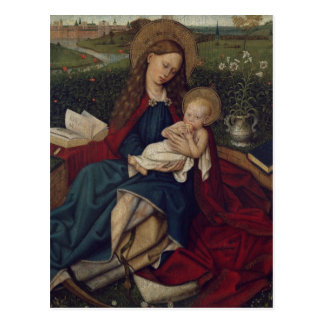 Virgin Mary and Baby Jesus Postcard
