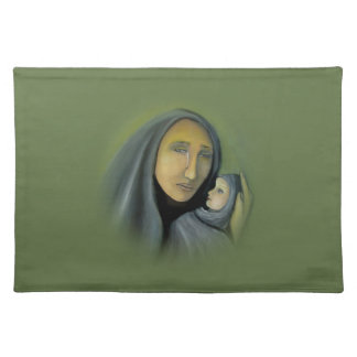 Virgin Mary And Baby Jesus Religious Christmas Cloth Placemat