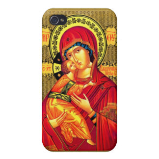 Virgin Mary and child Jesus iPhone 4 Cases