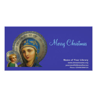 Virgin Mary and Child Jesus Photo Card Template