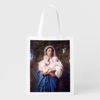 Virgin Mary and Jesus_Charity_William Bouguereau Grocery Bag