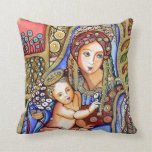 Virgin Mary and Jesus Child Pillows