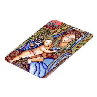 Virgin Mary and Jesus Child Rectangular Photo Magnet