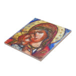 Virgin Mary and Jesus Child Tile
