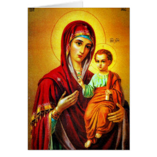 Virgin Mary and Jesus Greeting Card