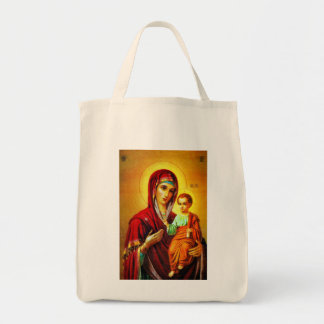 Virgin Mary and Jesus Tote Bag