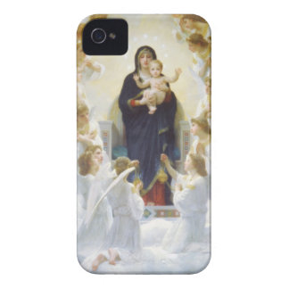 Virgin Mary and Jesus with angels iPhone 4 Case-Mate Case