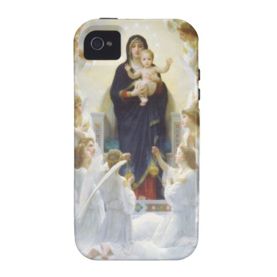 Virgin Mary and Jesus with angels iPhone 4 Cover