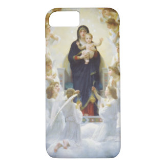 Virgin Mary and Jesus with angels iPhone 7 Case