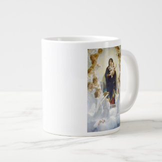 Virgin Mary and Jesus with angels Large Coffee Mug