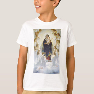 Virgin Mary and Jesus with angels T-Shirt