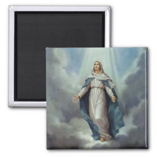 Virgin Mary Assumption 2 Inch Square Magnet