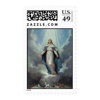 Virgin Mary Assumption Postage Stamps