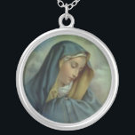 """Virgin Mary Assumption Silver Plated Necklace<br><div class=""""desc"""">Virgin Mary Assumption</div>"""