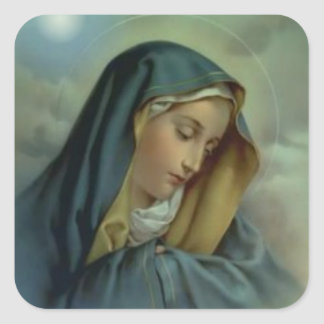 Virgin Mary Assumption Square Sticker
