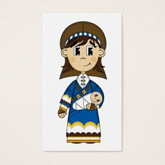 Virgin Mary & Baby Jesus Bookmark Business Card