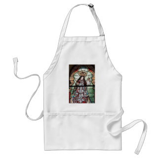 Virgin Mary baby Jesus Christ stained glass window Adult Apron
