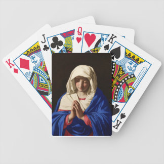 Virgin Mary Bicycle Playing Cards