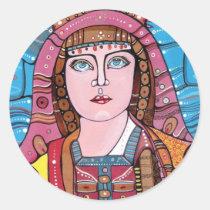 artsprojekt, portrait, sticker, design, modern, religious, virgin, mary, holy, mother, jesus, bible, christ, art, painting, madonna, Sticker with custom graphic design