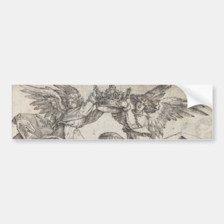 Virgin Mary Crowned by Two Angels by Durer Bumper Sticker
