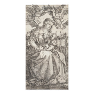 Virgin Mary Crowned by Two Angels by Durer Card