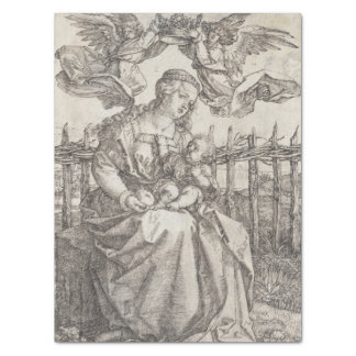 "Virgin Mary Crowned by Two Angels by Durer 15"" X 20"" Tissue Paper"