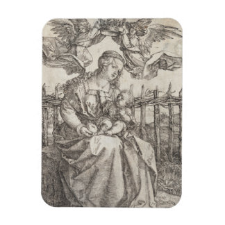 Virgin Mary Crowned by Two Angels by Durer Rectangular Photo Magnet