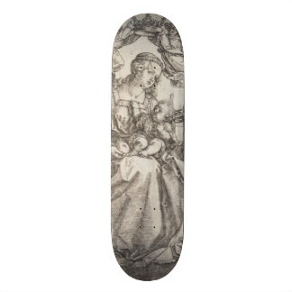 Virgin Mary Crowned by Two Angels by Durer Skateboard