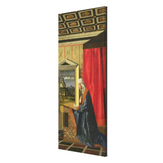 Virgin Mary, from The Annunciation diptych (oil on Canvas Print