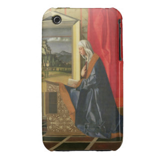 Virgin Mary from The Annunciation diptych oil on iPhone 3 Case-Mate Cases