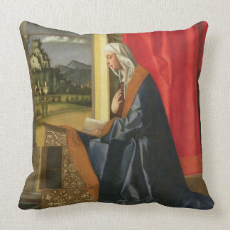 Virgin Mary, from The Annunciation diptych (oil on Throw Pillows