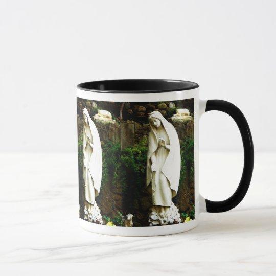 Virgin Mary Garden Statue Cup