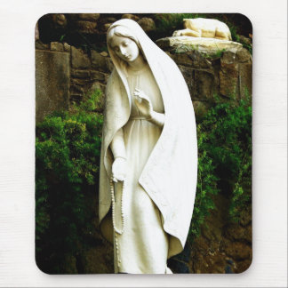 Virgin Mary Garden Statue Mouse Pad