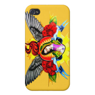 Virgin Mary halo wings iPhone 4/4S Case