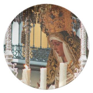Virgin Mary Icon Melamine Plate