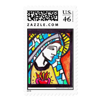 Virgin Mary Immaculate Heart Stamps