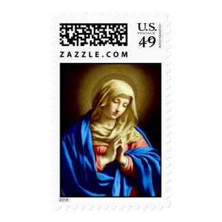 Virgin Mary in Prayer postage