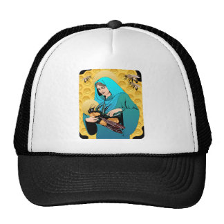 Virgin Mary Madonna & Bumble Bee Mesh Hat
