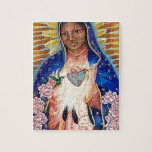 Virgin Mary _ Our Lady Of Guadalupe Jigsaw Puzzle