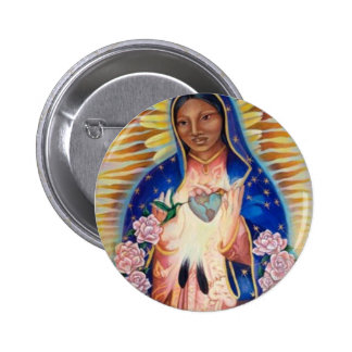 Virgin Mary - Our Lady Of Guadalupe Pinback Button