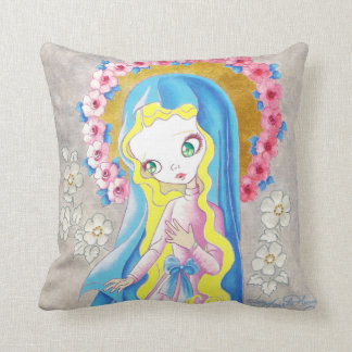 Virgin Mary Our Lady Throw Pillow