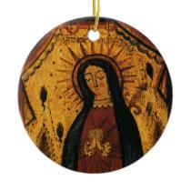 Virgin Mary Praying by Pedro Antonio Fresquis Ceramic Ornament