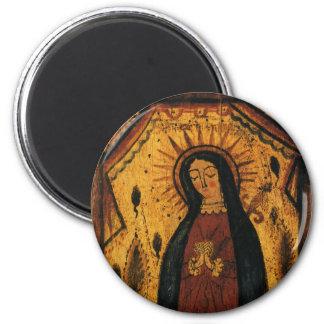 Virgin Mary Praying by Pedro Antonio Fresquis Magnet