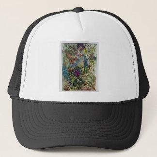 Virgin Mary Rosary Watercolor art Trucker Hat