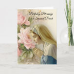 "Virgin Mary Roses Catholic Priest Birthday Prayer Card<br><div class=""desc"">Let these beautiful Blessed Virgin Mary cards express your appreciation to your priest friends on their birthday!</div>"